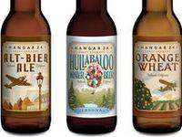 beer bottle labels.