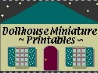 Printable images for making dollhouse miniatures.