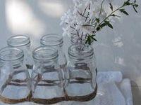 Glass 'MILK' Jars