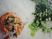 savory tarts and galettes on Pinterest   Tarts, Onions and Goat Cheese