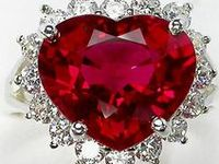 Various shapes and sizes of rubies.