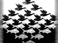 Maurits Cornelis Escher (/ˈɛʃər/, Dutch: [ˈmʌurɪts kɔrˈneːlɪs ˈɛʃər]; 17 June 1898 – 27 March 1972), usually referred to as M. C. Escher, was a Dutch graphic artist. He is known for his often mathematically inspired woodcuts, lithographs, and mezzotints. These feature impossible constructions, explorations of infinity, architecture, and tessellations.