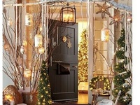 Entries on pinterest christmas door christmas porch and front doors