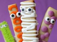 Halloween crafts, Halloween food, Halloween costumes and decorations for families with young kids.