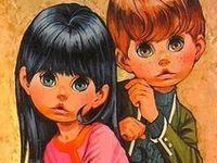 #groovy1960s #groovy1970s #1960s #1970s  #bigeyes1960s #bigeyes1970s #groovykids #groovygreetingcards #1960sillustration #1970sillustration #hippychildren #gogodance #1960sgogogirl #1970sgogogirl #1960srocknrollchildren #bigeyedgirls #bigeyedboys #bigeyed1960s