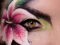 A collaboration of face and body paint for reference and inspiration.