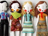 En tela / Cloth dolls, fabric dolls