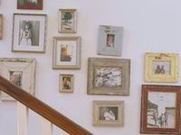how to style, hang, decorate, and fix up walls and tables and shelves