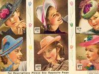 ★ 1930s vintage fashion ★ hats & accessories ★ hat styles ★ summer hats ★
