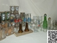 Upcycled and recycled glass bottles / A collection of glass bottles that have been saved from the clutches of the evil GlassBottleCrusher!