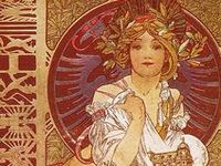 1890s - 1910s. Late Victorian to Edwardian nouveau illustrations.