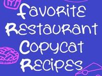 Saving a little money on Copycat recipes instead of going out often for some of our favorites.