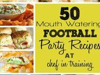 Recipes for food for the Big Game Day party or Tailgating