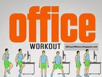exercises from your desk, chair, cubby...