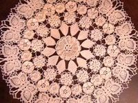 Assorted Crochet Doilies and Tableclothes