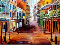 BOLD New Orleans French Quarter, Jazz, Cuisine, Culture and all things Louisiana painted by a few of my favorite artists.