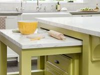 all great ideas from decor, counter tops, cabinets, curtains, new appliances, gadgets, for cooking and entertaining
