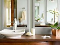 All that is interesting and helpful in decorating or redoing an existing bathroom.... The easier and least expensive the better, just great ideas