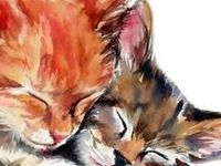 ANIMAL ART: PUSSYCAT, PUSSYCAT WHERE HAVE YOU BEEN? 2