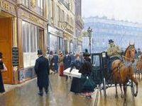 Old shops, markets, sellers and pedlars