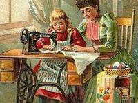 Vintage sewing images