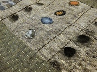 inspiration for stitch: grid, patch, fibers, cloth to cloth