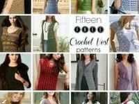 Crochet Cardigans, Tops, Vests, Shrugs, Capes / (free patterns or just inspiration)