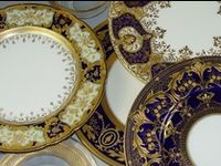 Dishes, serving pieces, tea services, teapots, chocolate pots, butter, cheese, pancake dishes, flatware, silverware, compotes, cake stands, stemware, crystal, salt cellars, pitchers, mustard, jam, punch bowls, knife rests