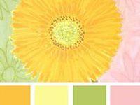 Palettes of Color / collection of colors...design seeds, blue rose designs, niu, etc...