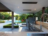 A collection of outdoor kitchens for inspiration. One day I'd like to incorporate an outdoor kitchen into my own garden, although I'm unsure if the very strict municipal bylaws would allow it.
