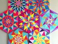 angles chevrons triangles diamonds hexagons