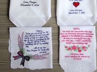 personalized wedding handkerchiefs / An eternal souvenir to parents which reminds that perfect day and make them feel special.