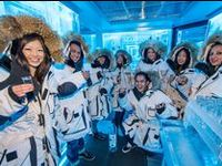 The Ice Room: Fun at -32°C / -25°F / Come into the cold and experience an exhilarating flight of sub-zero vodka. We provide the parka. Just bring your sense of adventure.  At -32C (-25F) the Ketel One Ice Room is the world's coldest vodka tasting room – and the only permanent sub-zero vodka room in Canada. With more than 50 vodkas from across the globe, and examples distilled from everything from rye, wheat and soya to hemp seeds, this unique Bearfoot Bistro experience is not to be missed.