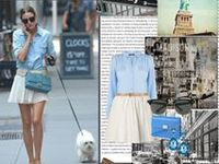 Olivia Palermo has an enviable sense of style and is frequently featured on fashion blogs. The well-dressed socialite mixes feminine classics with contemporary cuts, often pairing vintage dresses with color-blocked blazers.