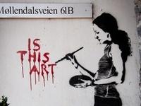 Funky street art that caught my eye...