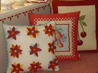 Pillows, cushions, cases, and shams -- Beautiful pieces to sew and admire.