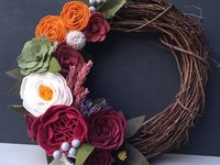 Wreaths and felt crafts