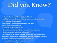 Fun Facts and Interesting Info