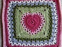 Crochet square 'Heart'