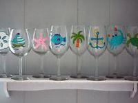 Wine bottles & Wine glasses