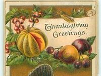 ~Vintage Thanksgiving Greetings~
