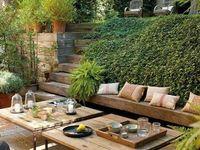 Garden Ideas / Back yard is on a slope