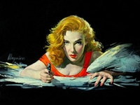 Classic illustration: The Golden Age of pulp fiction magazine covers, the silver age of paperback illustration, and even some highlights from contemporary darkly flavored illustration, all focusing on noir-ish crime and deadly romance.