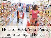 Shopping, couponing, meal planning, stockpiling, etc