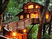 TREE HOUSES ~ I Have ALWAYS Wanted to Live in a Tree House ~ or at least as My Get-Away & Play Spot