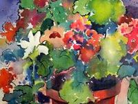 Garden:  Flowers and flower arrangements.