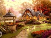 One of the most gifted and highly talent artist I know. mr. Thomas  Kinkade  brings a whole new meaning to his painting as they look like they step right out at you from the painting. Some paintings look so real you might think you could open the door and just walk right on in.