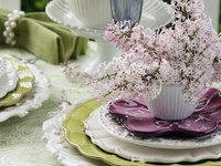 Beautiful table settings & Centerpieces