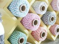 Creations made using bakers twine ONLY from The Twinery