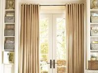 Sliding glass door sliding door curtains and thermal drapes